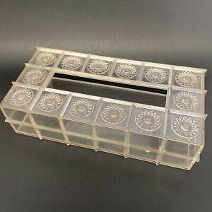 Vtg MCM Clear Starburst Acrylic Lucite Kleenex Tissue Box Holder Atomic Retro