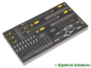 Sealey (Siegen) S01132 Tool Chest Tray Tap Die File & Digital Caliper Set 48-Pc