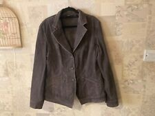 VERSE Velvet feel fitted Jacket/coat Size 44 Grey/Brown Lightweight - summer