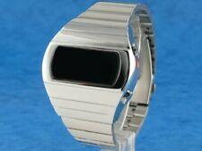 SILVER KOJAK TELLY SAVALAS 70s Old Vintage Style LED DIGITAL Rare Retro Watch