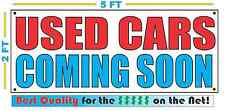 USED CARS COMING SOON Banner Sign NEW