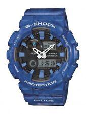 Casio G-Shock Herrenuhr Uhr Robust Weltzeit Alarm Timer Blau GAX-100MA-2AER