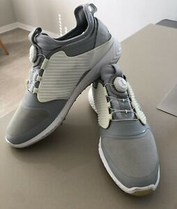 Puma IGNITE PWRADAPT CAGED DISC Waterproof Men's Golf Shoes, Size 10, White/Gray