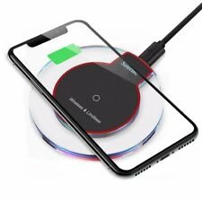 Qi Wireless Fast Charger Dock Charging Pad+Receiver for i.Phone 5s 6 7 8 X XR 11