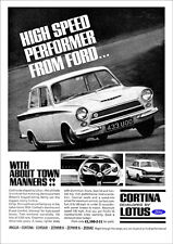 LOTUS CORTINA MK1 FORD CORTINA RETRO A3 POSTER PRINT FROM CLASSIC 60's ADVERT