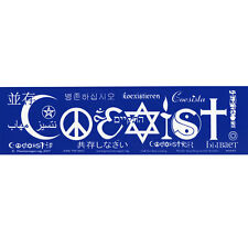S043 - Coexist Languages Large Bumper Sticker
