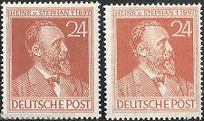 Alliierte Besetzung Deutschland MiNr. 963 a + b ** Heinrich von Stephan