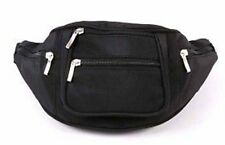 New Strong Black Canvas Zipped BumBag/ Bum Bag Ladies/Gents