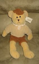 "New Dakin ""Bradley"" the Chenille Teddy Bear 18"" Bean Plush Stuffed Animal"