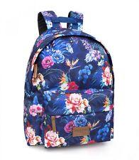 El Charro Mochila Bolso Escolar Trabajo Viaje Floral Niñas Flores Azules