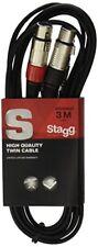 Stagg Stc3cmxf Câble Bretelle Xlr/rca (f/m) 3 M