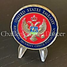 Diplomatic Security Services Regional Office Podgorica Montenegro Challenge Coin