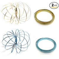 2-PACK Magic Flow Ring Slinky 3D Fun Kinetic Spring Infinity Arm Juggle Toys US