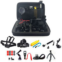 25-in-1 Head Chest Mount Monopod Accessories Kit For GoPro Hero 2 3 4 5 Camera