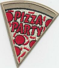 Girl Boy Cub PIZZA PARTY SLICE Fun Patches Crests Badges SCOUT GUIDE Day Event