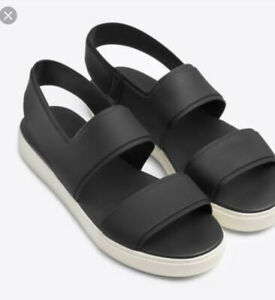 VINCE Eres Rubber Black Slingback Waterproof Shoe Size 8 US, 38 EUC
