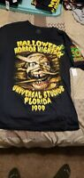Universal Studios Halloween Horror Nights 1999 30 YEARS 30 FEARS PRINT SHIRT MED