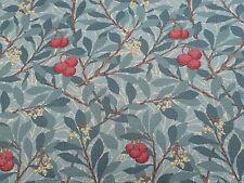 William Morris Curtain Fabric 'Arbutus' 3.6 METRES 360cm Dark Green 100% Cotton