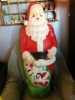 "VINTAGE 1990'S EMPIRE 46"" GIANT MERRY CHRISTMAS SANTA BLOW MOLD"