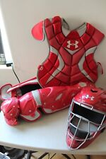Under Armour Converge Pro Adult 16+ Catchers Gear Set - Red