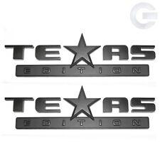 New OEM GMC Sierra and Chevy Silverado Texas Edition Emblems (Pair)- Matte Black