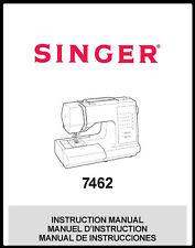 New listing Singer 7462 Sewing Machine Instructrions Manual User Guide Reprint Copy