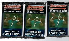 3 SEALED 2003 BOWMAN HOBBY NFL FOOTBALL PACKS.      10 CARDS A PACK