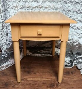 Ethan Allen Single Drawer End Table | Pine | Blonde | Great Quality + Eye Appeal