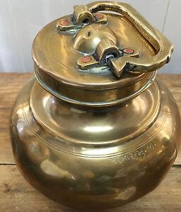 Vessel Ratan Lalmu Brass India Tibetan Arts Pooja Antique Urn Holy Ganges Chambu