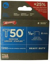 T50 8mm (5/16inch) Arrow Fastener  Heavy Duty Staples Box of 1250 UK SELLER