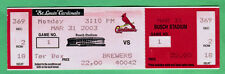 2003 STL CARDINALS OPENING DAY FULL TICKET VS. BREWERS