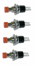 4 Pack SPST Normally Open Momentary Push Button Switch     25019 SW