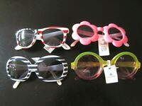 NWT BABY GAP GYMBOREE Girl's Sunglasses 2-4 Flag Flower Stripes YOU CHOOSE