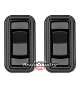 Holden Commodore REAR Door Electric Window Switch PAIR VB VC VH VK VL Black