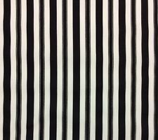 BRAEMORE WINSTON STRIPE DOMINO BLACK WHITE OUTDOOR INDOOR FABRIC BY THE YARD