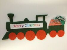 5 Die-Cut Merry Christmas Trains Card Making Scrapbook Craft Embellishments