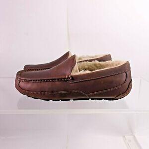 Size 9.5 Women's / 8 Men's UGG Ascot Slippers 1103889 Tan
