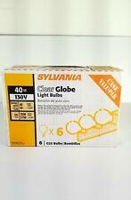 Sylvania 40-Watt Incandescent G25 Clear Globe Light Bulb (6-Pack)