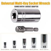 Universal Steckschlüssel Aufsatz Nuss 1/4'', 3/8'', 1/2'' Adapter Multischlüssel