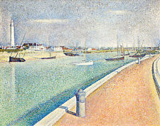 The Channel of Gravelines Petit Fort Philippe by Georges Seurat Canvas Print