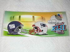 NEW ENGLAND PATRIOTS SUPER BOWL XLII 42, VS. NEW YORK GIANTS ONLY 1 ON EBAY MINT
