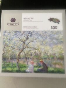 Wentworth wooden jigsaw puzzle 500 pieces - Soringtime By Claude Monet -