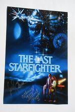 Lance Guest Catherine Mary Stewart The Last Starfighter 12x18 Photo Signed COA