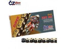 CZ MX 520 Factor CATENA CHAIN rafforzato clip oro 118g KXF CR KTM SXF 125 350 450