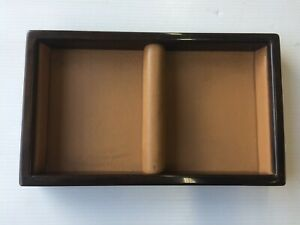 81 - 99 ROLLS ROYCE SILVER SPUR CENTER CONSOLE LEATHER WOOD tape TRAY UW17119
