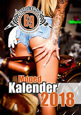 Kalender 2018, A3, Sexy Girls - Tattoo & Bikes - Simson AWO, Schwalbe, S51...