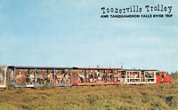 Postcard Toonerville Trolley Tahquamenon Falls River Trip Michigan