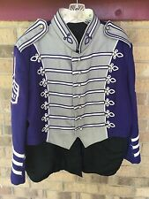 2 sets Marching Band Jacket Hat Pant Gray Purple TAILS Costume sgt pepper 44 46