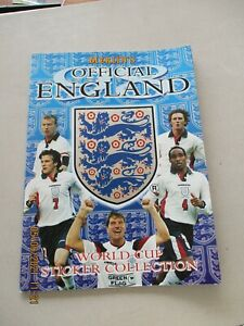 Merlin Official England World Cup Sticker Collection Empty Album 1998