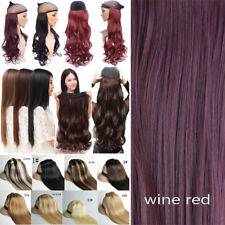 One Piece(5 Clips)Clip-on Long Wavy Real as Human Hair Extension 3/4Full Head fo